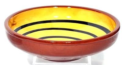 Genuine Terracotta 17cm Large Breakfastdessert Bowl - Yellowdark Green Set Of 2 by Be-Active