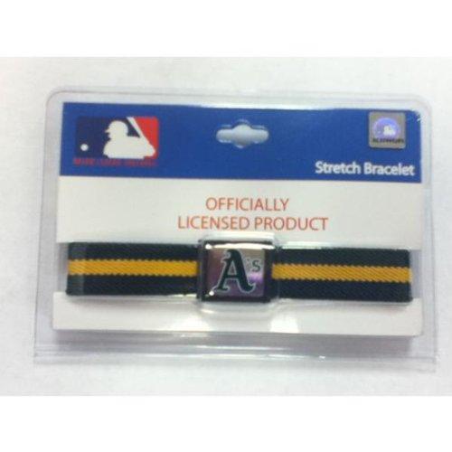 Oakland A's Stretch Bracelet - Case Pack 12 SKU-PAS915251