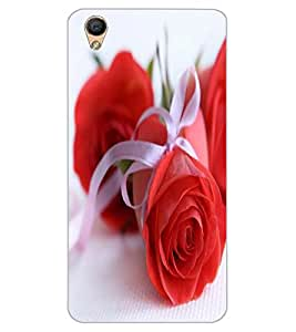 ColourCraft Beautiful Rose Design Back Case Cover for OPPO F1 PLUS