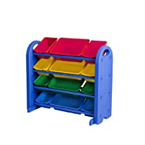 Hot Sale ECR4Kids 4 Tier Plastic Storage Organizer with Bins