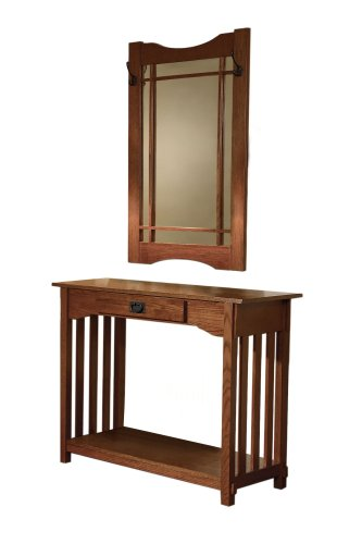 Powell Mission Oak Console and Mirror (Mirror For Console compare prices)