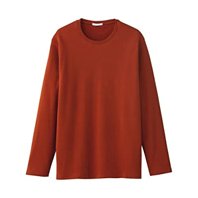 Long Sleeve Men's T-shirt Burnt Orange / Brick / Burgundy Size XXL by Gap