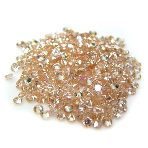 Round 3mm Champagne CZ Cubic Zirconia Loose Stone Lot of 250 Pieces