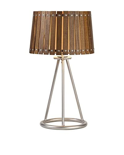 Acacia Wood Shade 1-Light Table Lamp, Natural