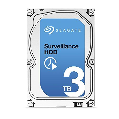 Seagate Surveillance ST3000VX002 HDD 3 TB Interne Festplatte ((3,5 Zoll) 64 MB Cache, SATA III für den Überwachungsbereich)