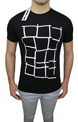 T-Shirt maglia uomo MCQ Alexander McQueen nero girocollo maniche corte original man's sweatshirt (XL)