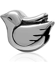 Choruslove Lovely Peace Dove Bird Charm 925 Sterling Silver Bead For European Animal Style Bracelet Jewelry