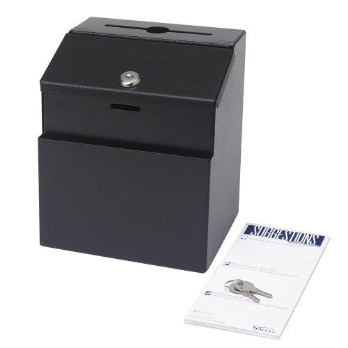 Safco - Steel Suggestion/Key Drop Box With Locking Top, 7 X 6 X 8 1/2 4232Bl (Dmi Ea