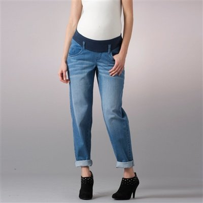 'boyfriend' maternity jeans used blue 10