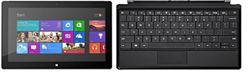 """New Original Microsoft Surface 64Gb Tablet With Black Type Cover - Windows Rt 8, 10.6"""" Hd Lcd Touchscreen, Front And Rear Camera Office 2013 Rt Included (A Black Type Cover Bundle)"""
