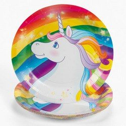 Unicorn Rainbow Dessert Plates (8 pc)