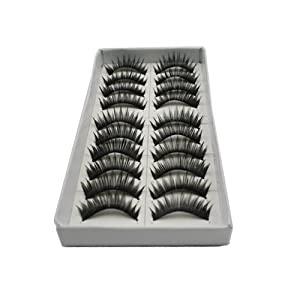 10 Pairs Professional Make Up False Eye lash Eyelashes-For Christmas Gift