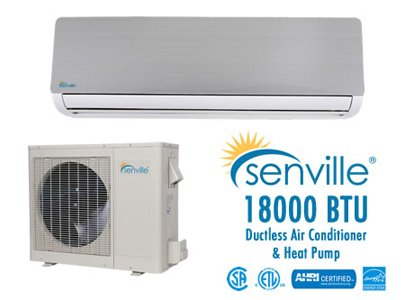 Cheapest Price! Senville 18000 BTU Ductless Air Conditioner and Heat Pump - Energy Star