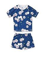 nyani Pijama Short (Azul Índigo)