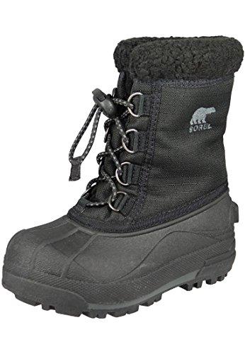 Sorel Bambini Stivali invernali della gioventù Cumberland II foderato NY1791 Nero Nero, Sorel Schuhe Kids:35
