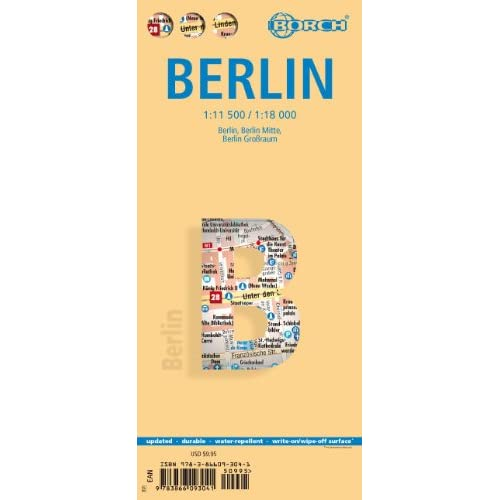 Laminated Berlin Map Borch (English Edition)