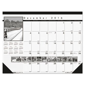 Black-And-White Photo Monthly Desk Pad Calendar, 22 X 17, 2015-2016 (Personal Photo Calendar compare prices)