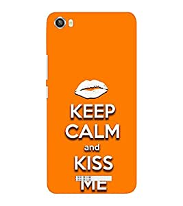 EPICCASE Keep Calm and Kiss Mobile Back Case Cover For Lava Iris X8 (Designer Case)