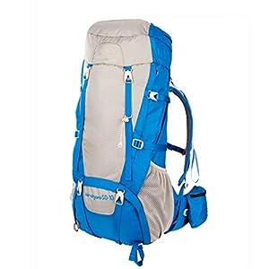 TGLOE Trekking Rucksäcke 60L Groß Kapazität im Freien Wandern Rucksäcke Rechteck Art Rucksäcke Bergsteigen Camping Tourismus Rucksäcke 33cm * 25cm * 70cm (Blau)