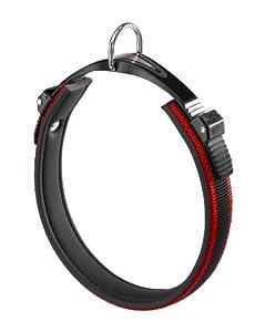 Ferplast Ergocomfort Nylon Padded Dog Collar 43-51CM X 25MM WIDTH Red/Black