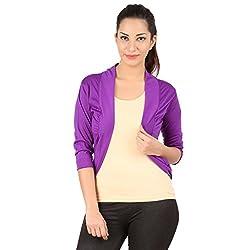 Belonas Women's Purple Shrug