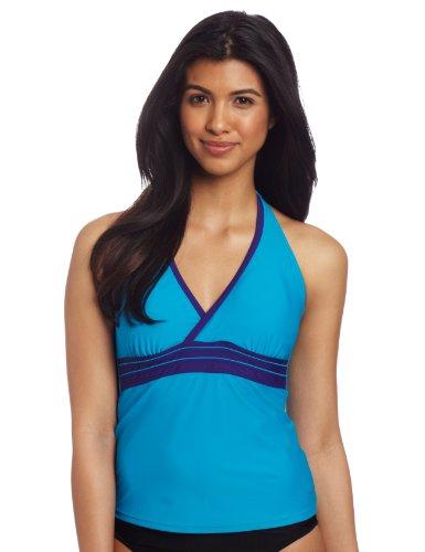 Speedo Women's Active Piped Halterkini Swim Top
