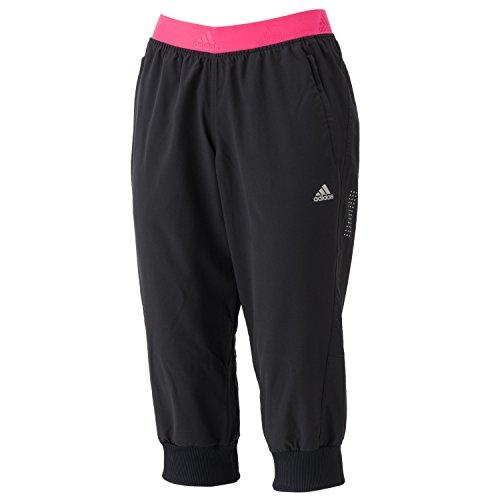 (アディダス)adidas W 蘭カプリパンツ AAC85 AA2642 ブラック J/M