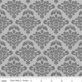 Mystique Petal Gray Yardage by Lila Tueller for Riley Blake Designs SKU# c3083-gray