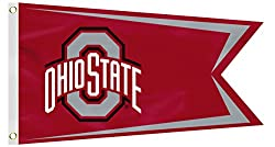 NCAA Ohio State Buckeyes Boat Flag, Small, Red