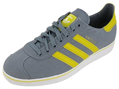 Adidas Men's ADIDAS GAZELLE II (CANVAS) ORIGINALS CASUAL SHOES 10 Men US (TECGRE/SUNSHI/RUNWHT)
