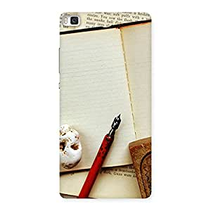 Enticing Little Diary Multicolor Back Case Cover for Huawei P8