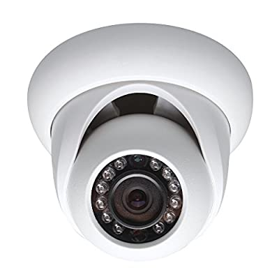 1MP Weatherproof Indoor/Outdoor IP Dome Security Camera - 50 Feet of IR - ONVIF - Wide Angle Lens - High Definition Security Recording