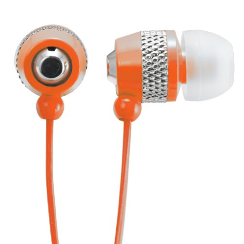 Audiology Au-148-Or In-Ear Stereo Earphones For Mp3 Players, Ipods And Iphones (Orange)