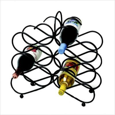 Spectrum 48710 Scroll Wine Rack, Black