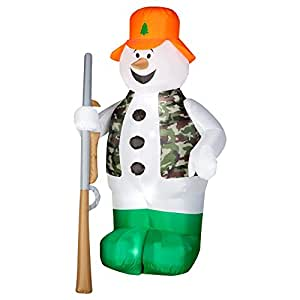 Camo Snowman Airblown Inflatable
