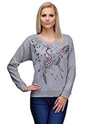 Curvy Q Full Sleeve Women's Grey Top
