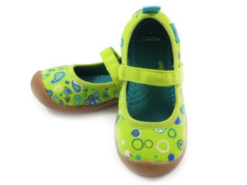Chooze Girls Dance Mary-Janes (Toddler/Youth),Youth 12.0 B(M) Us,Giggle Green