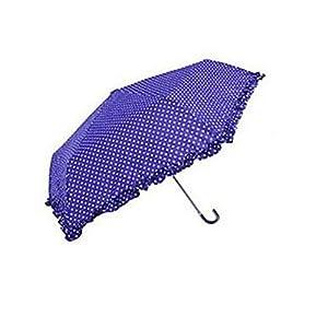 Ladies Umbrella Fringed Frill Umbrella Purple