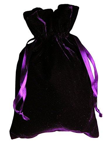 Tarot Rune Bag Bundle of 4: Moss Green, Navy Blue, Purple, Wine 6 x 9