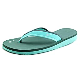Nike Celso Girl Thong Flip Flops Open Toe Shoes Brown Womens (11 B(M) US, Hyper Turquoise/Hasta/Pure Platinum)