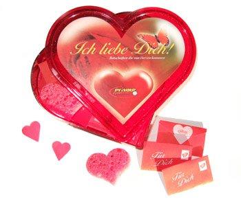 Herzdose Ich liebe Dich - süßes Valentinstagsgeschenk