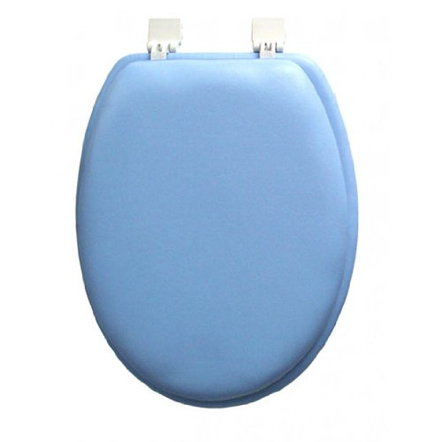 Cool Ginsey Elongated Blue Padded Toilet Seat Coconuas8 Beatyapartments Chair Design Images Beatyapartmentscom