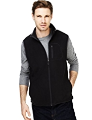 Active Funnel Neck Micro Fleece Gilet