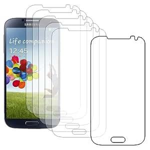 ebestStar - Pour SmartPhone Samsung Galaxy S4 i9500 i9505 / S IV GT-i9500 - LOT DE 6 FILM PROTECTEUR ANTI-RAYURE / protection d'écran tactile, LCD, cristal, transparent + chiffonnette (microfibre / chiffon)