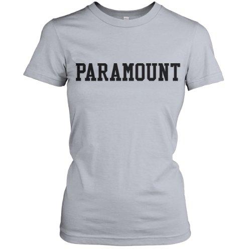 Paramount Collegiate Ladies Fine Jersey T-Shirt (Black), New Silver, M