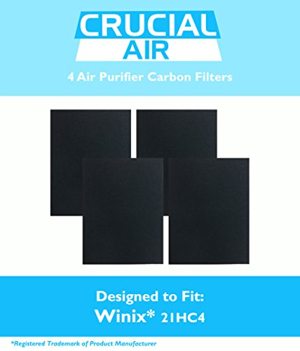 4 Winix-Compatible 115115 Carbon Filter, Fits PlasmaWave Series, Designed & Engineered by Crucial Air