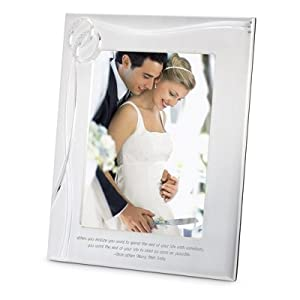 Personalized Wedding Picture Frames 8x10 : Personalized Double Rings 8x10 Frame