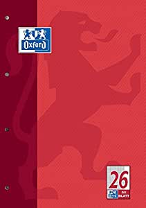Hamelin Paperbrands 384405026 School Pad A4 / Optic Paper / 90 g/m² / Squared 5 mm / Margin / 50 Sheets / Pack of 10