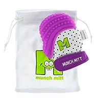 Munch Mitt Baby Teething Mitten – Purple