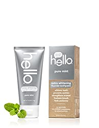 Hello Oral Care Extra Whitening Fluoride Toothpaste, Pure Mint, 4.2 Ounce